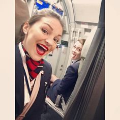 British Airways girls taking the mick. His view after being subdued, tied up, and held in the rear of the plane by these stewardesses.