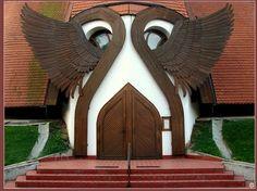 Church entrance, Hungary