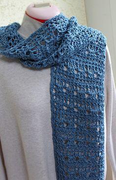 Starlight Tunisian Scarf - free Tunisian Lace crochet pattern by Elisa Purnell.
