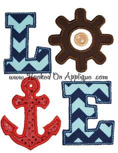 LOVE Nautical applique design