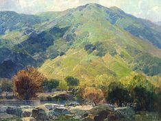 Hanson Puthuff - Artist Art for Sale - Hanson Puthuff Mountain Landscape, Landscape Art, Landscape Paintings, Desert Landscape, Paintings I Love, Beautiful Paintings, Awesome Paintings, Oil Paintings, California Art