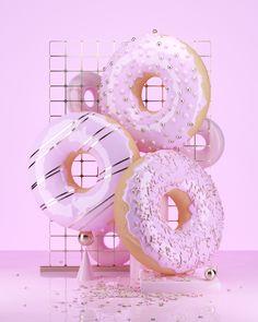 Roman Bratschi on Behance Cinema 4d, Vaporwave, 3d Artwork, Art 3d, Photo Zone, Window Display Design, Pink Wallpaper, Candyland, Motion Design
