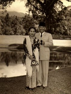 Soekarno or Sukarno with First Lady Fatmawati | He is the first President of Indonesia | I adore this gentleman
