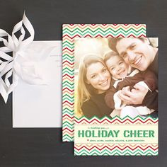 Chevron Cheer Holiday Photo Cards