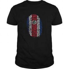 Cool Costa Rica National Pride Flag Fingerprint Shirt Shirt; Tee