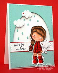 """C.C. Designs """"Little Cloudy"""" stamp set and coordinating die by Kim O'Connell"""