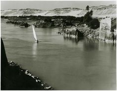 The Nile at Aswan,Egypt in 1959.