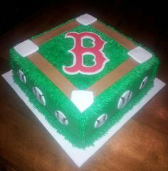 Boston red sox cake facebook.com/cakesbyjenhavenar