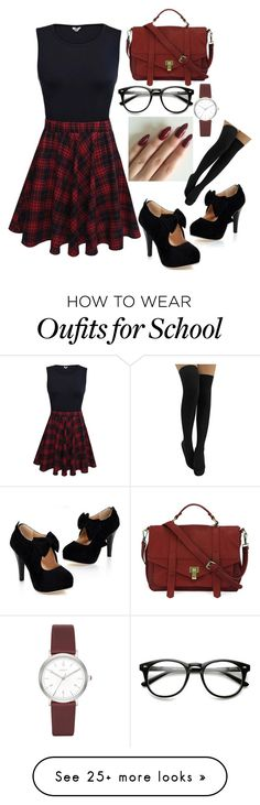 """The Popular School Girl"" by lylydenisegaston on Polyvore featuring DKNY"