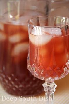 Sweet iced tea infused with a watermelon puree.  Watermelon Sweet Iced Tea     I was browsing through some old cookbooks recently and ran ...