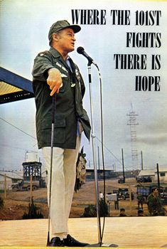 The USO tours of Bob Hope… was always with the military at Christmas. He was a wonderful man.Tours 1941 thru 1991.