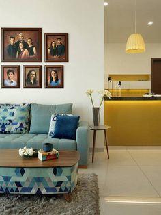 Usine Studio : Architects | Interior Designer | Project Consultants - Vadodara, Gujarat. India Living Room Sofa, Living Room Interior, Living Room Decor, Bedroom Decor, Modern Apartment Decor, Apartment Interior Design, Interior Ideas, Home Library Design, House Design