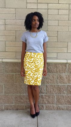 10.14.14//Autumn Bloom Skirt: Loft Sweatshirt: Old Navy (old) Necklace: Express Shoes: Target