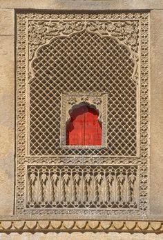 Entrance of Diwan Nathmal Ji Ki Haveli, Jaisalmer, Rajasthan, India Stock Photo
