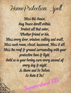 Home Blessing Spell Digital Download Book of Shadows Pages - Wiccan - Witch - Spells - BOS - Home Protection Spell Ritual Blessing