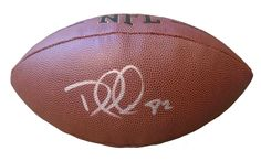 Tennessee Titans Delanie Walker signed NFL Wilson full size football w/ proof photo.  Proof photo of Delanie signing will be included with your purchase along with a COA issued from Southwestconnection-Memorabilia, guaranteeing the item to pass authentication services from PSA/DNA or JSA. Free USPS shipping. www.AutographedwithProof.com is your one stop for autographed collectibles from Nashville sports teams. Check back with us often, as we are always obtaining new items.