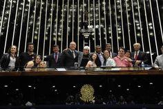 Presidente do Senado, Renan Calheiros (PMDB-AL), em sessão especial em que foram discutidas a melhoria das políticas públicas e a inclusão social das pessoas com Síndrome de Down (20/03/2014). Foto: Jane de Araújo