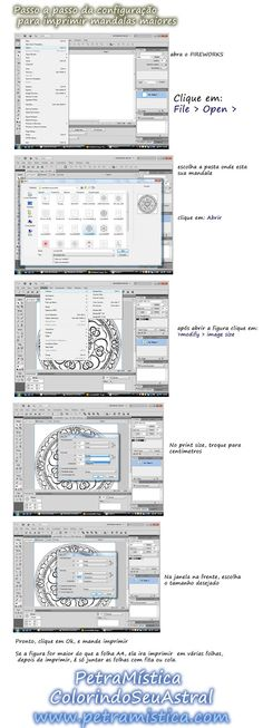 Petra Mística - ColorindoSeuAstral: passo a passo para a impressão de mandalas grandes...