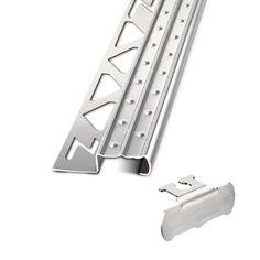 Sicherheits-Treppenstufenprofil, Edelstahl, ideal für den Außenbereich