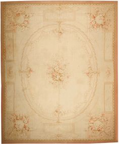 rugs | Click for High Resolution Image of Antique Aubusson French Rugs 43633
