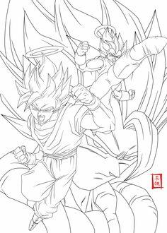 Coloriage Dragon Ball Z Sangoku Super Sayen 10 Manga Dbz A Imprimer
