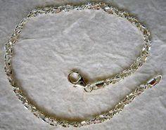 "Italian Made Braided Sterling Silver Ankle Bracelet 10"" | eBay"