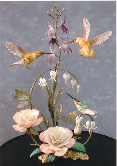 Rufus Hummingbird porcelain and bronze. The Franklin Mint