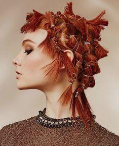 Creative hair for the modern day Pippi Longstocking Creative Hairstyles, Up Hairstyles, Long Hair Designs, Dramatic Hair, Avant Garde Hair, Hair Arrange, Editorial Hair, Hair Reference, Hair Shows