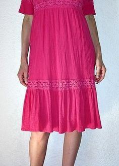Kaufe meinen Artikel bei #Kleiderkreisel http://www.kleiderkreisel.de/damenmode/kurze-kleider/107066544-pinkes-sommerkleid-mit-armeln-gr38