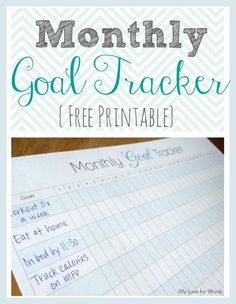 Finally achieve your goals and New Years resolutions with this free printable monthly goal tracker.