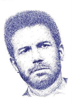 Titolo: Ben Affleck Tecnica: Pilot 0,5 zigzagata Tempo d'esecuzione: 14 minuti  #portrait #art #BenAffleck