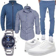 Blau-Weißer Style mit Hemd, Chino und Vans #hemd #chino #armani #vans #outfit #style #herrenmode #männermode #fashion #menswear #herren #männer #mode #menstyle #mensfashion #menswear #inspiration #cloth #ootd #herrenoutfit #männeroutfit #mann #gentlemen