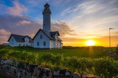 Pretty morning at the Hirtshals lighthouse in #Denmark. Photo by Stefan Klaas.