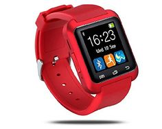 "Greenfrank™ U80 Smart Bluetooth Watch Call Message Reminder Sleep Monitor (Red)   Feartures : . 1.5"" Capacitive Touch Screen TFT LCD . Time / Date / Week / Battery state display . Ringing reminder when you receive a call . Ringing reminde"
