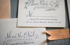 Holly Hollon calligraphy and design.  Love the banner for the street address.