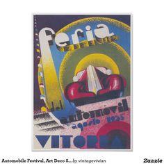 Automobile Festival, Art Deco Spanish Vintage