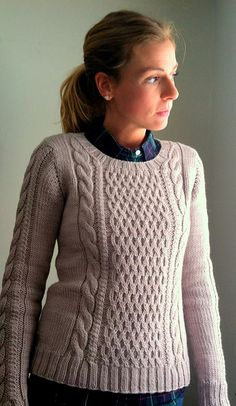A classic winter staple—cabled and heavy and oh so warm. The perfect sweater for cuddling in front of the fire.