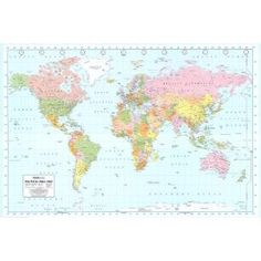 #4: World Map Maps Poster Print, 36x24 College Poster Print, 36x24