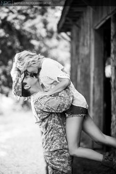 Engagement pics though I'll want some without his army uniform
