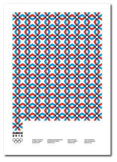 Poster for a fictional Olympic Games in Zurich.