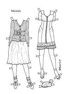 Karen`s Paper Dolls: Miranda 1-4 Paper Doll to Print and Colour. Miranda 1-4…