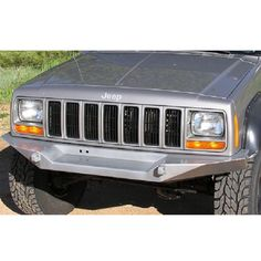 Logan's Metal Front Winch Bumper with D-Ring Mounts & Fairlead Mount - Bare Metal Jeep Cherokee Xj Accessories, Jeep Accessories, Modificaciones Jeep Xj, Jeep Truck, Morris 4x4 Center, 2001 Jeep Cherokee, Jeep Grill, Winch Bumpers, Volkswagen