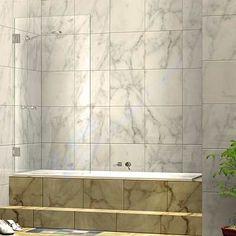 Buy 800 x single fixed panel frameless shower bath screen online in Australia Bath Shower Screens, Bathroom Renos, Bathrooms, Frameless Shower, Single Doors, Panel Doors, Wall Mount, Shelving, Bathtub