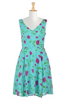 I <3 this Fit and flare floral tencel dress from eShakti