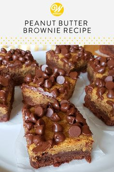 Bake a batch of these delicious homemade peanut butter and chocolate dessert bars to satisfy your cravings! Featuring a decadent layer of soft and chewy chocolate brownie topped with a rich layer of. Homemade Peanut Butter, Peanut Butter Recipes, Brownie Toppings, Brownie Recipes, Dessert Chocolate, Chocolate Brownies, Baking Recipes, Dessert Recipes, Bar Recipes