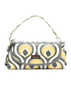 Another great find on #zulily! Yellow Peacock Park Place Diaper Clutch by Bayá #zulilyfinds