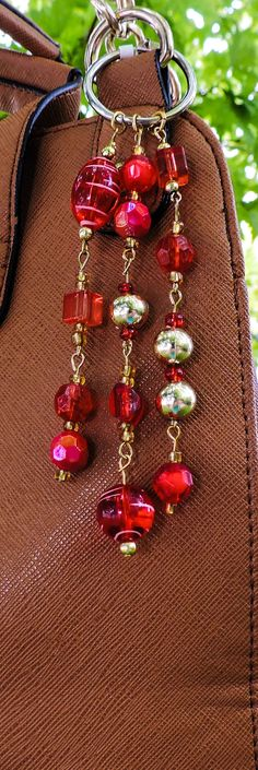 Swril red purse charm by KConklinJewelry on Etsy
