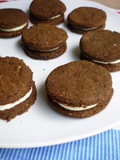 Paleo-ish Oreo Cookies. The cookies are a paleo mixture of mostly coconut flour, some almond flour, and sunbutter, plus other ingredients. The filling is a mixture of cream cheese, honey, vanilla, heavy cream, and butter. So, these are MOSTLY Paleo and I can't wait to try them!
