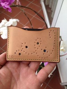 Handmade Leather Credit card holder ID wallet This ID credit card wallet is made 100% by hand using premium vegetable tanned leather and waxed