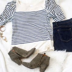 Urban outfitters stripe short sleeve top Urban outfitters stripe short sleeve top Urban Outfitters Tops Tees - Short Sleeve